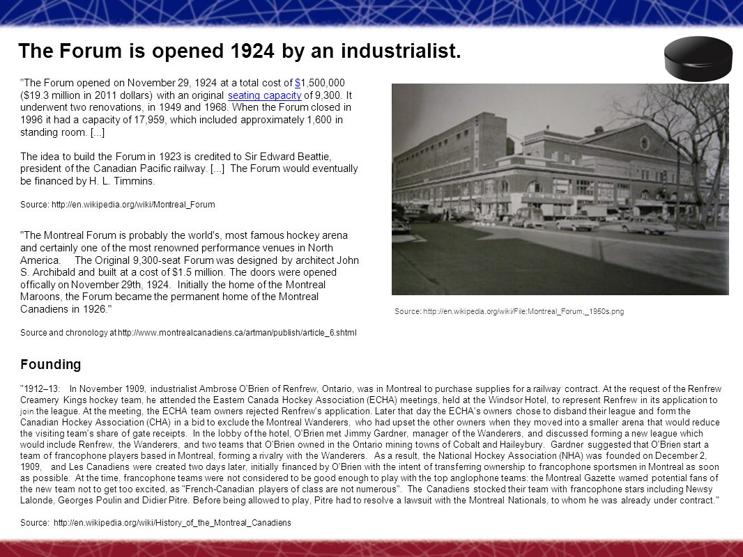 The Forum is opened 1924 by an industrialist.