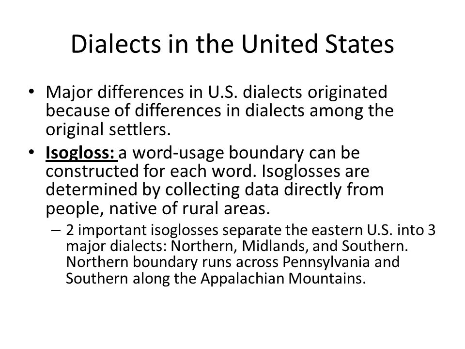 Dialects in the United States