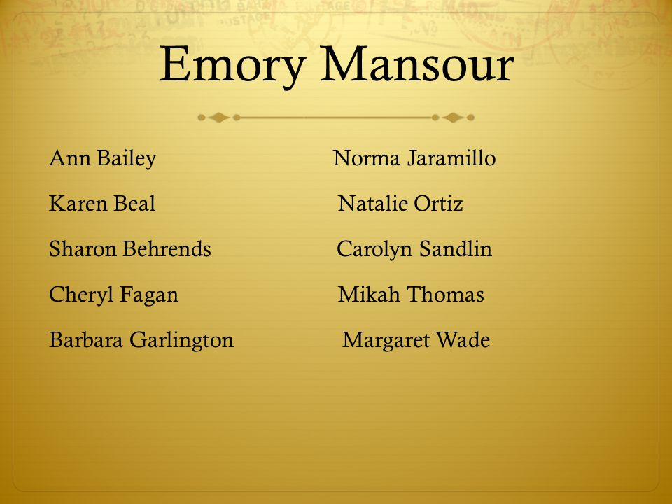 Emory Mansour