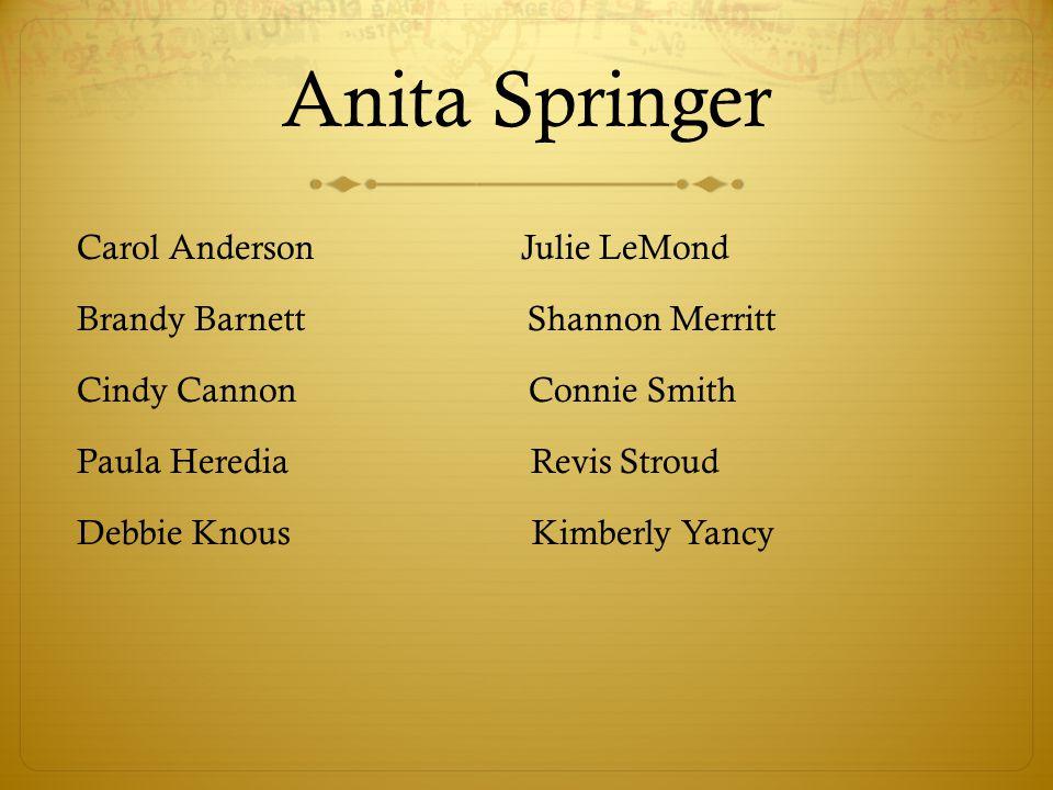 Anita Springer