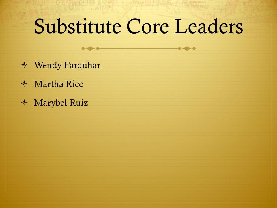 Substitute Core Leaders