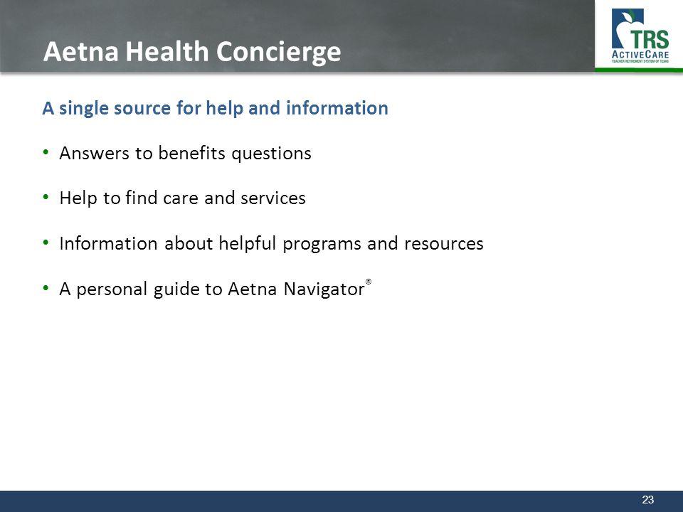 Aetna Health Concierge