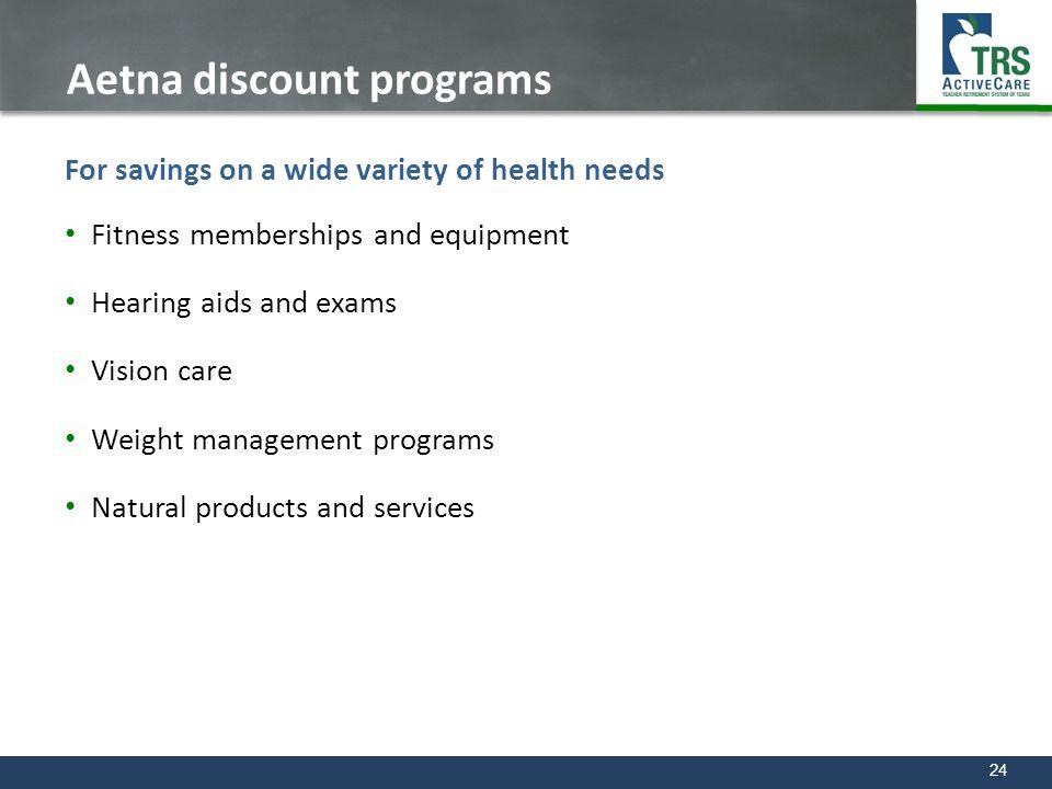 Aetna discount programs