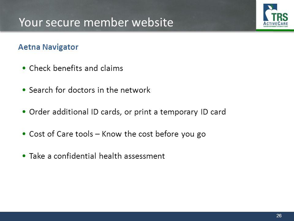 Your secure member website