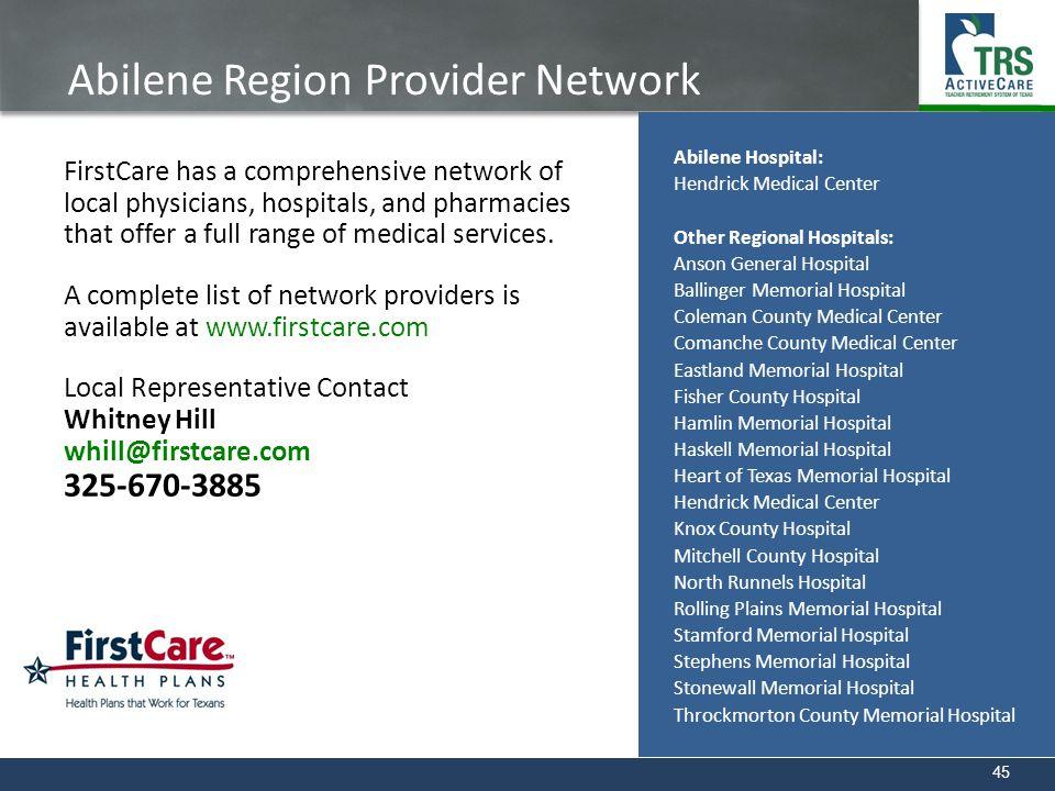 Abilene Region Provider Network