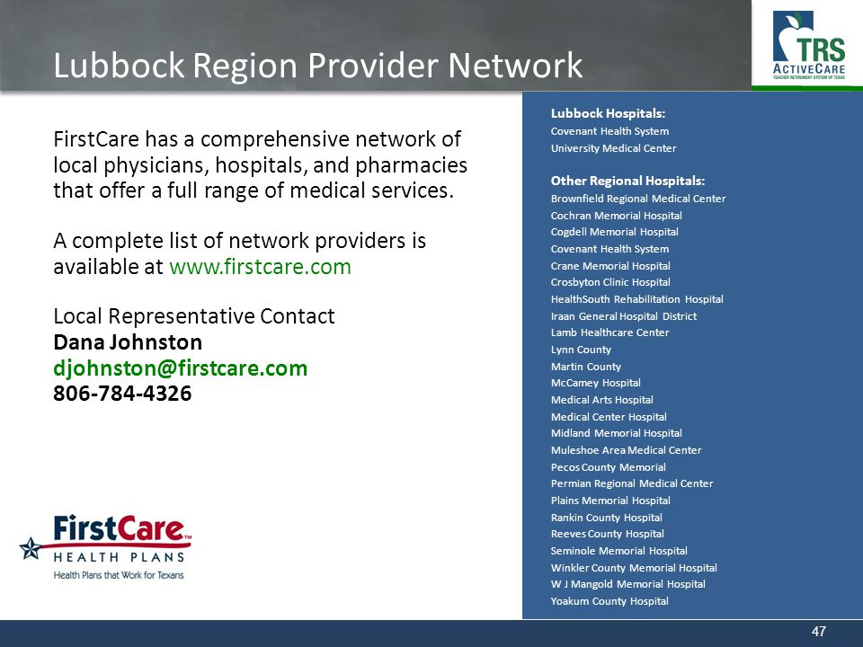 Lubbock Region Provider Network