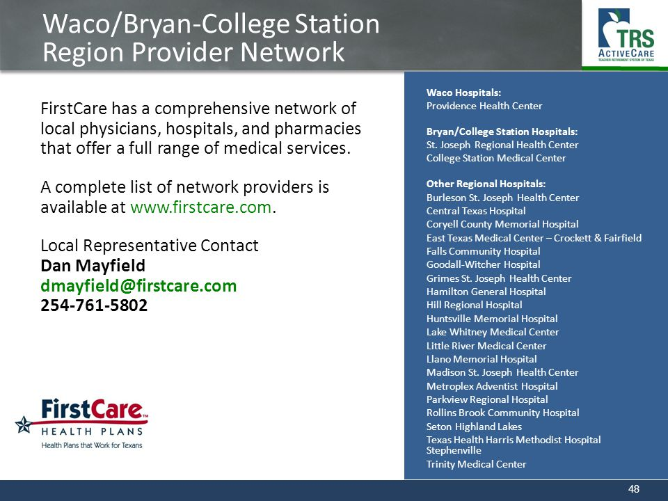 Waco/Bryan-College Station Region Provider Network