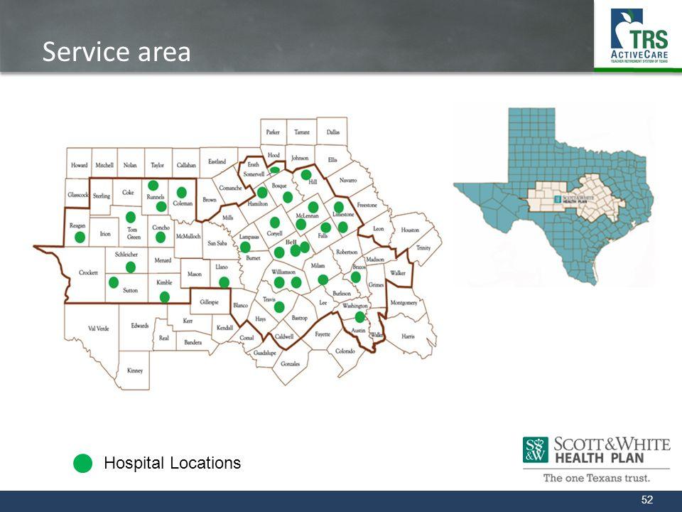 Service area Hospital Locations