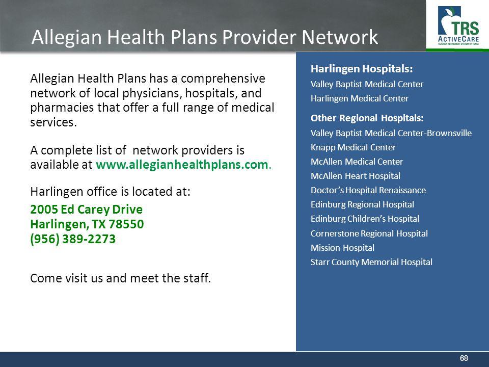 Allegian Health Plans Provider Network