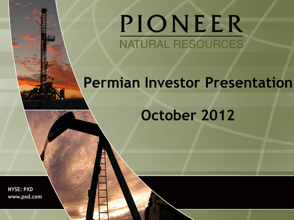 Permian Investor Presentation October 2012