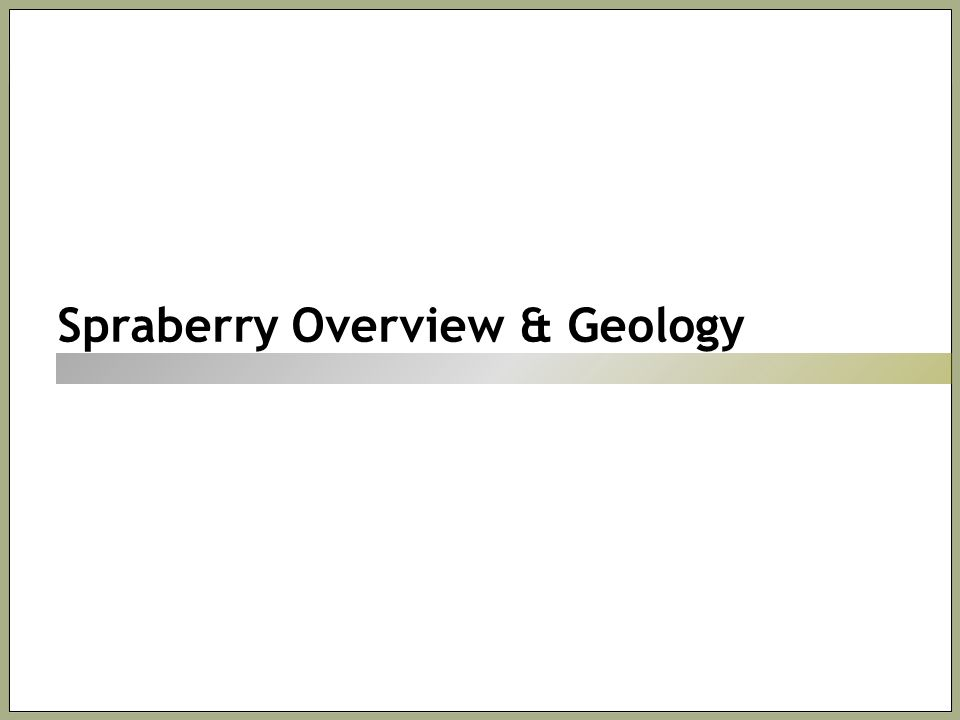 Spraberry Overview & Geology