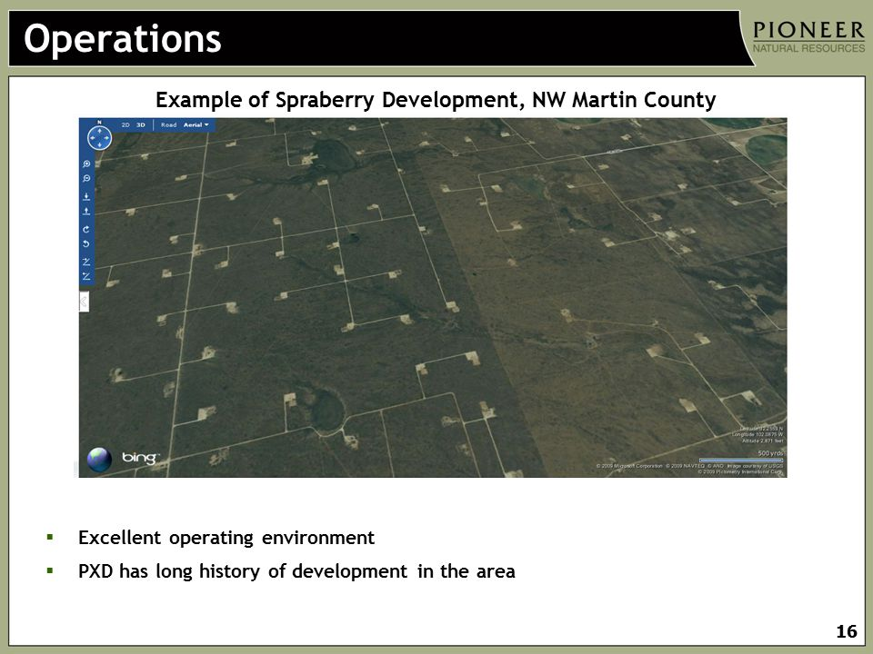 Example of Spraberry Development, NW Martin County