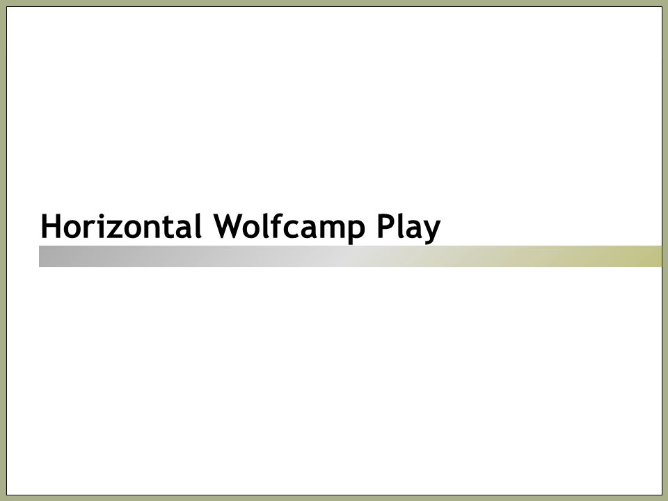 Horizontal Wolfcamp Play