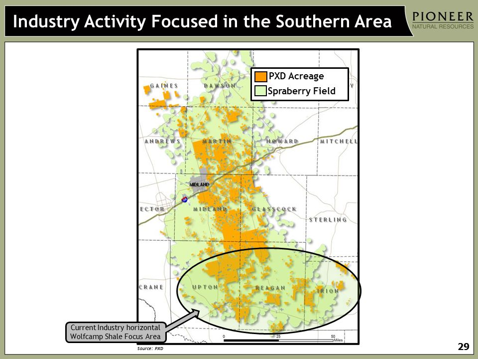Industry Activity Focused in the Southern Area