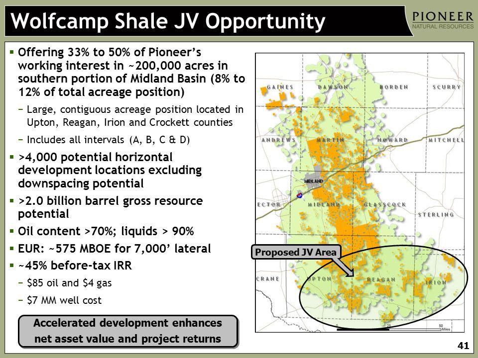 Wolfcamp Shale JV Opportunity