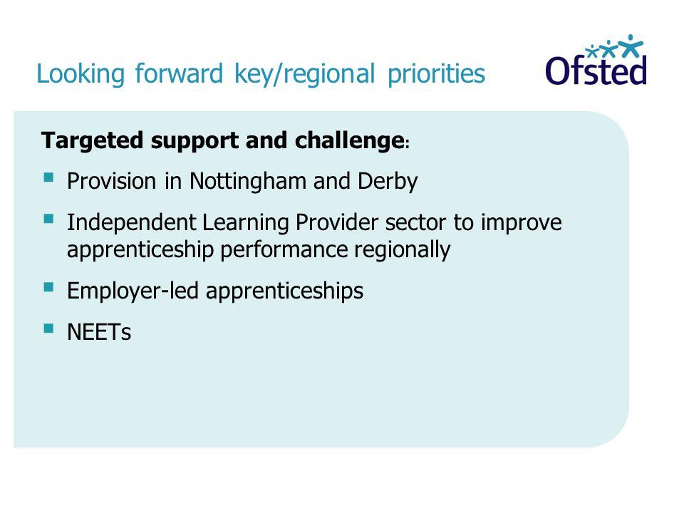 Looking forward key/regional priorities