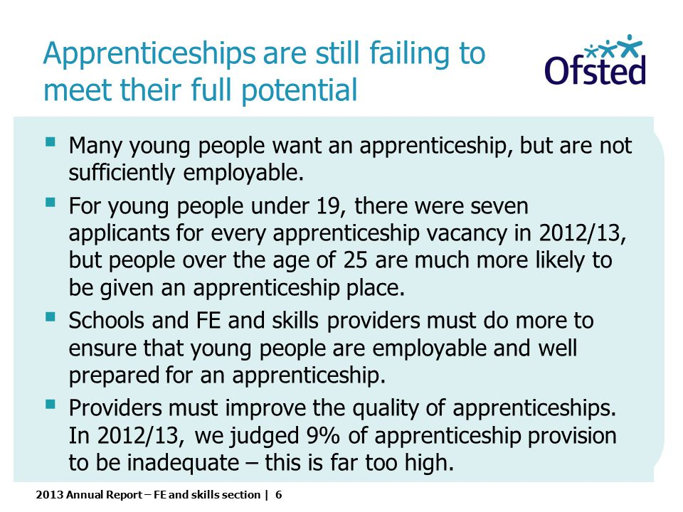 Apprenticeships are still failing to meet their full potential