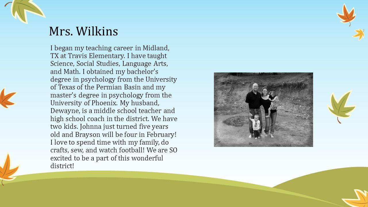 Mrs. Wilkins