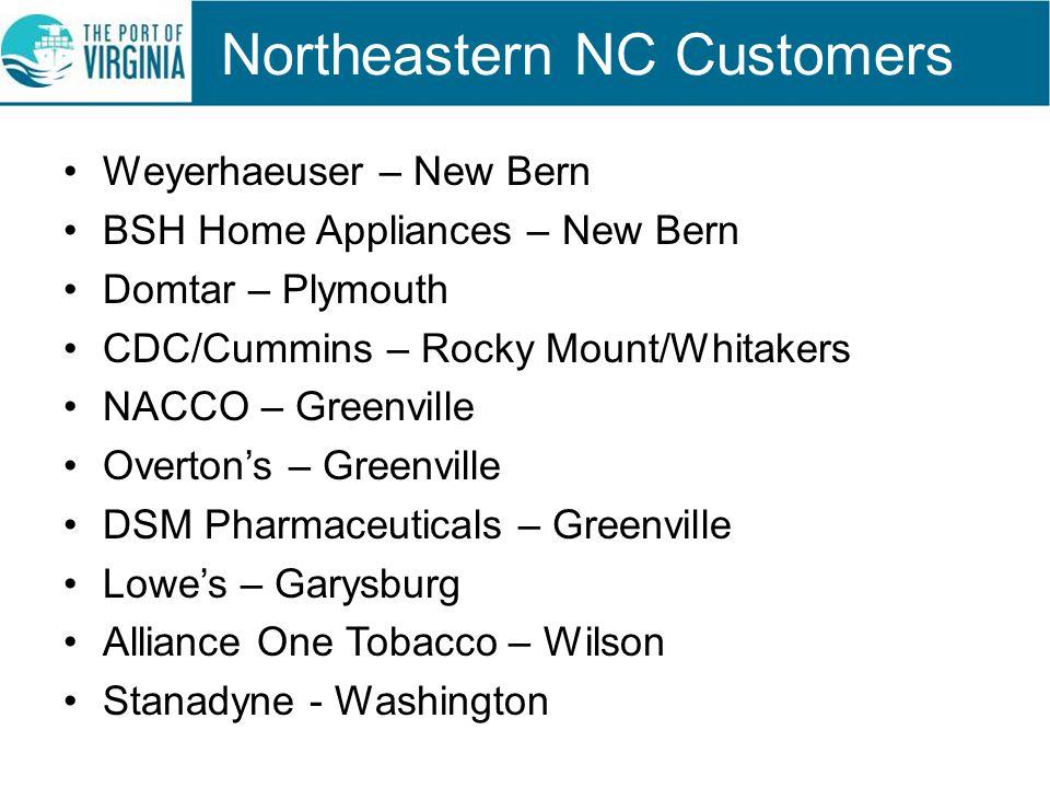 Northeastern NC Customers