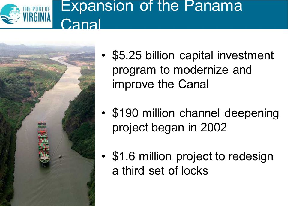 Expansion of the Panama Canal