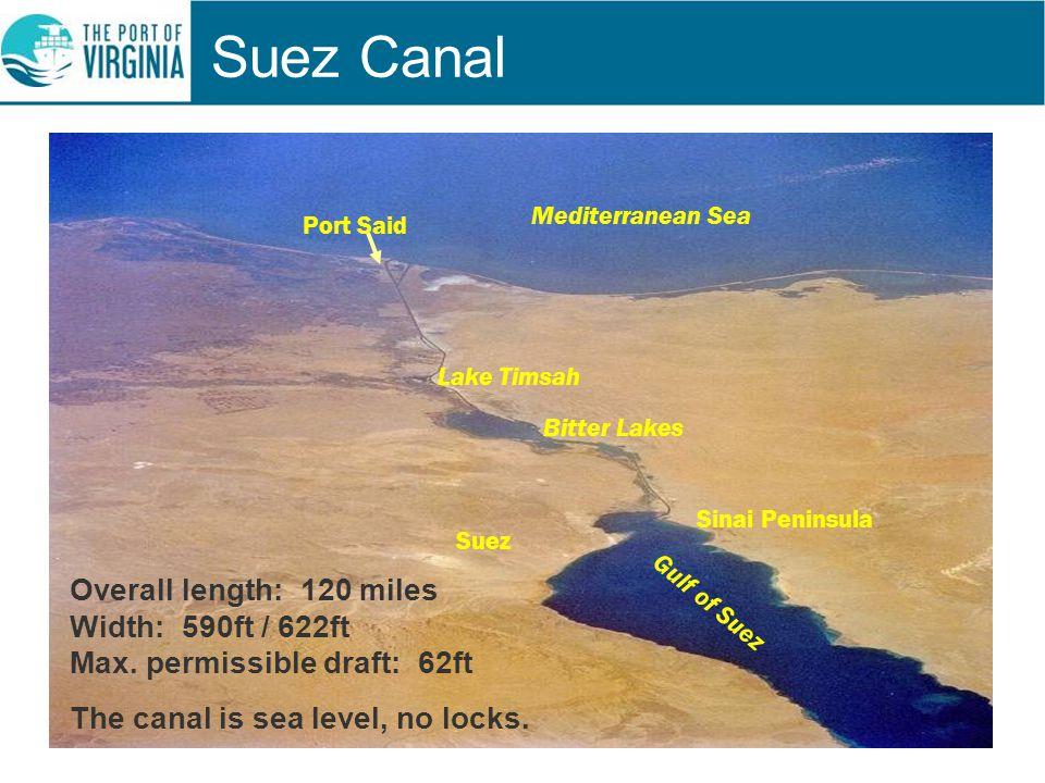 Suez Canal Mediterranean Sea. Port Said. Lake Timsah. Bitter Lakes. Suez. Sinai Peninsula. Gulf of Suez.