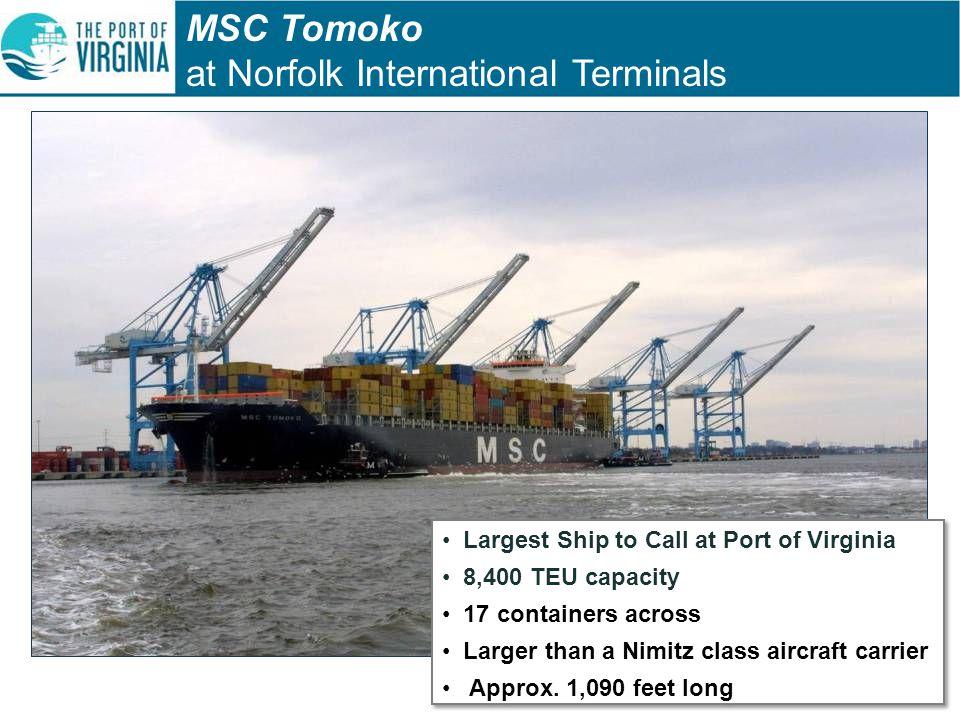 MSC Tomoko at Norfolk International Terminals