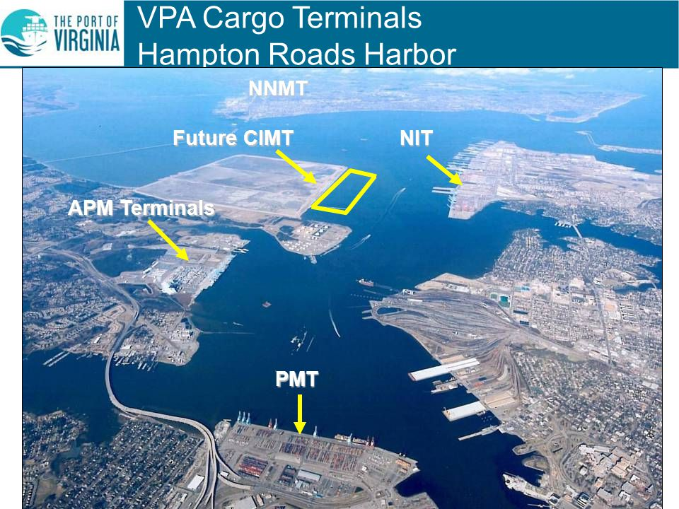 VPA Cargo Terminals Hampton Roads Harbor