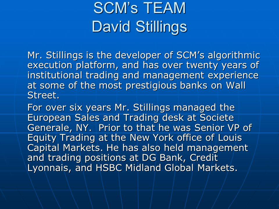 SCM's TEAM David Stillings
