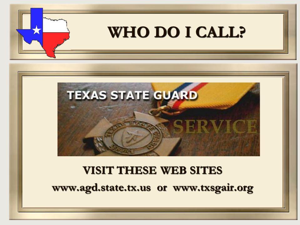 www.agd.state.tx.us or www.txsgair.org