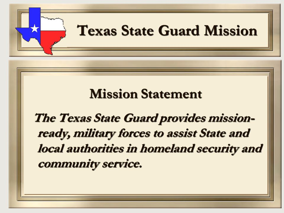 Texas State Guard Mission