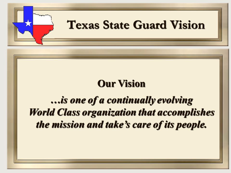 Texas State Guard Vision