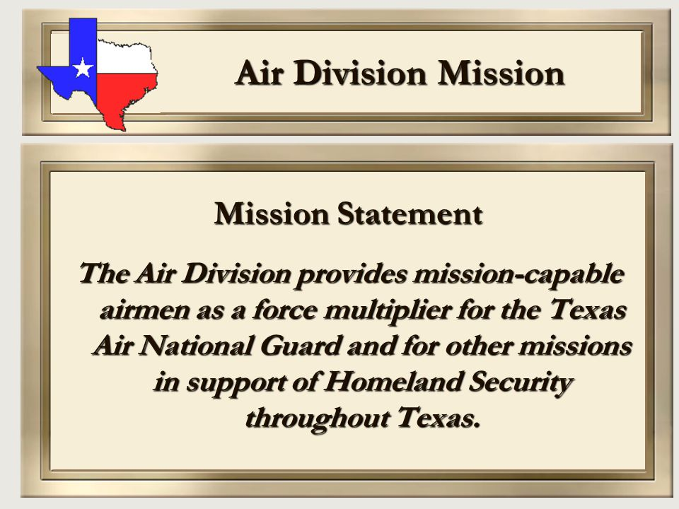 Air Division Mission Mission Statement