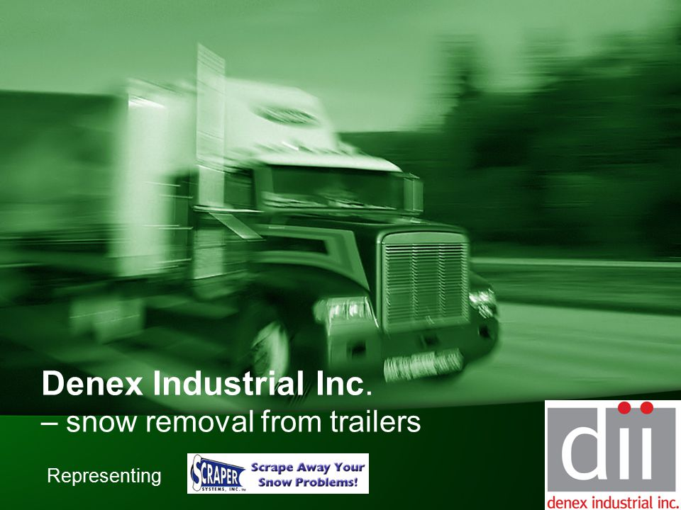 Denex Industrial Inc. – snow removal from trailers