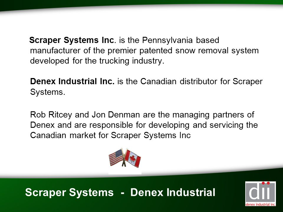 Scraper Systems - Denex Industrial