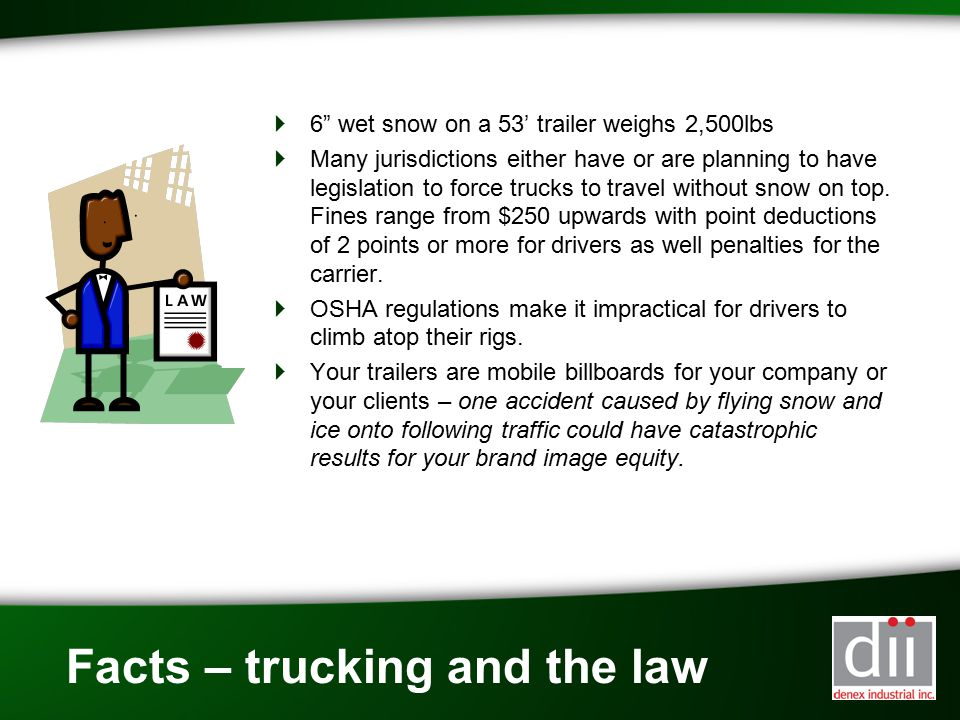Facts – trucking and the law