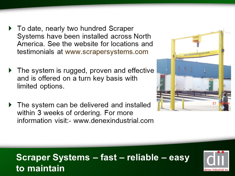 Scraper Systems – fast – reliable – easy to maintain