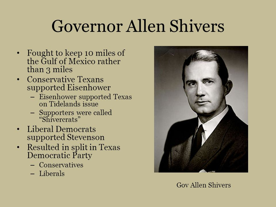 Governor Allen Shivers