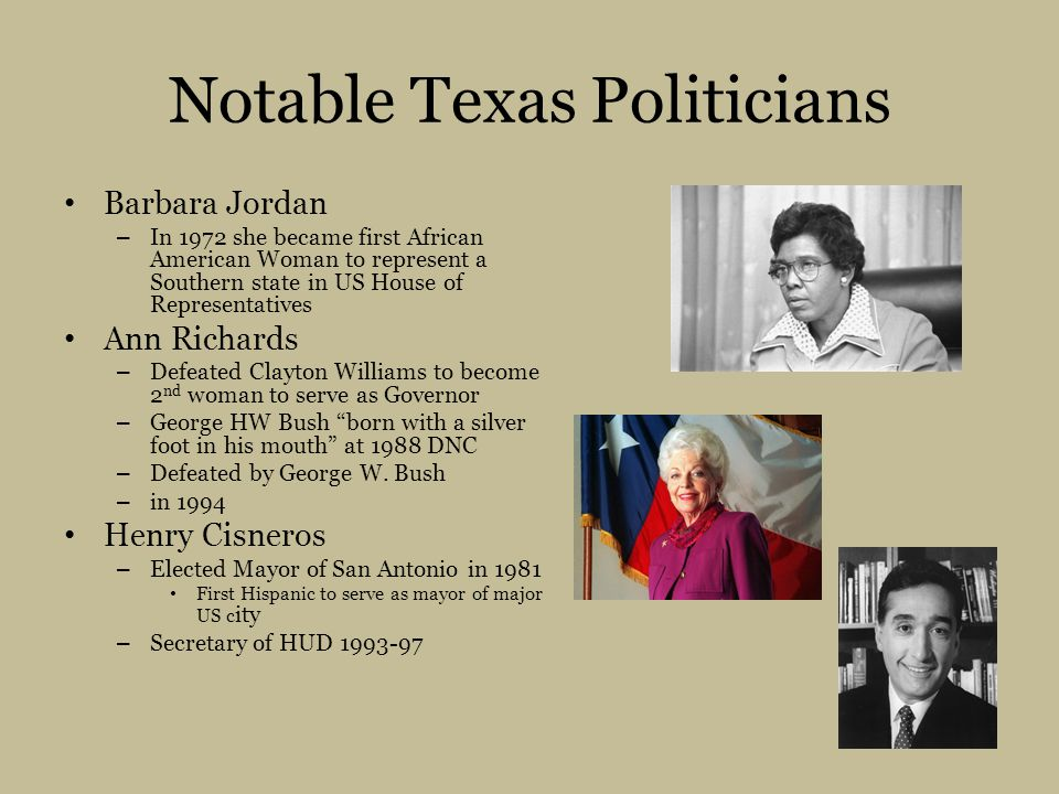 Notable Texas Politicians
