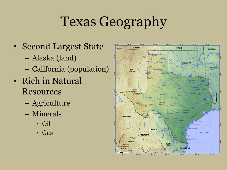 Texas Geography Second Largest State Rich in Natural Resources