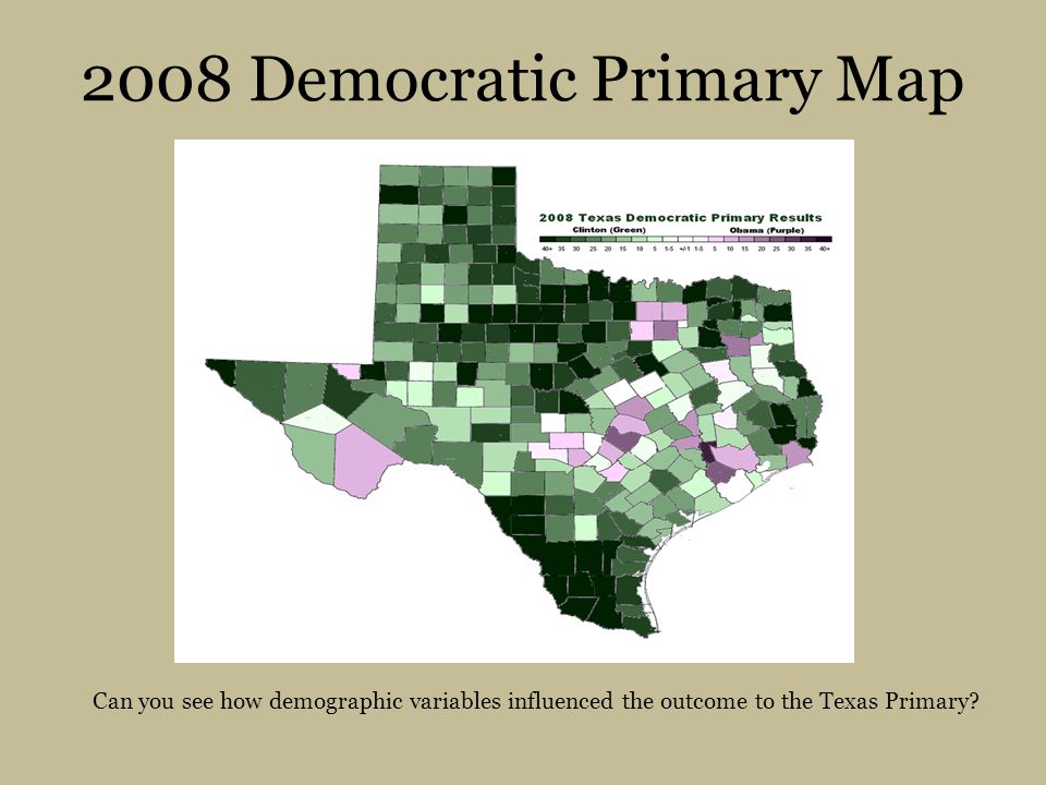 2008 Democratic Primary Map