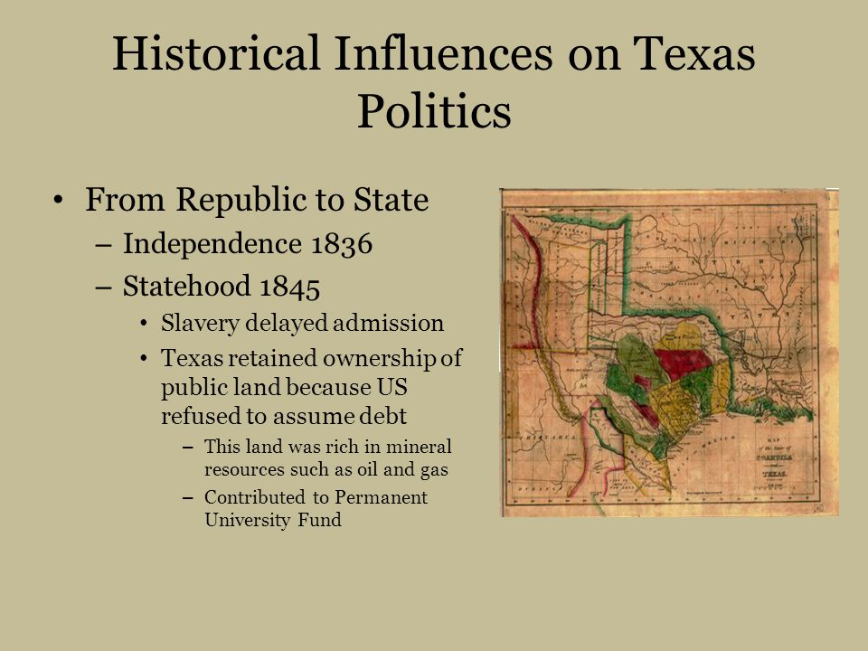 Historical Influences on Texas Politics