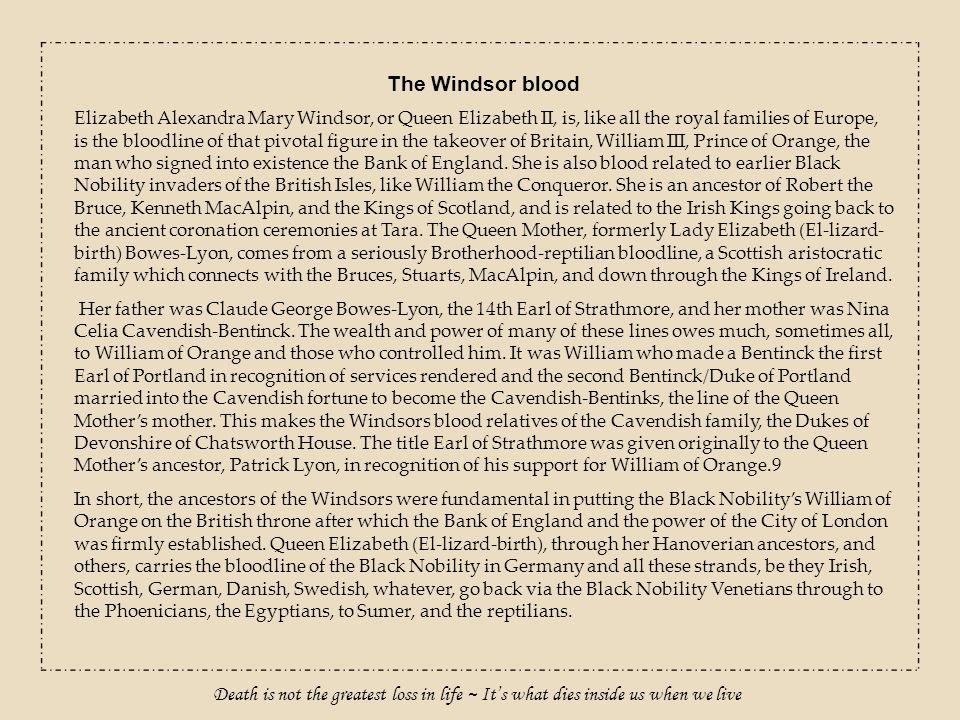 The Windsor blood