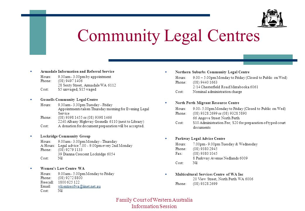 Family Court of Western Australia - ppt download