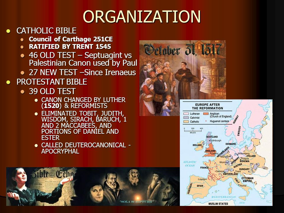 ORGANIZATION CATHOLIC BIBLE