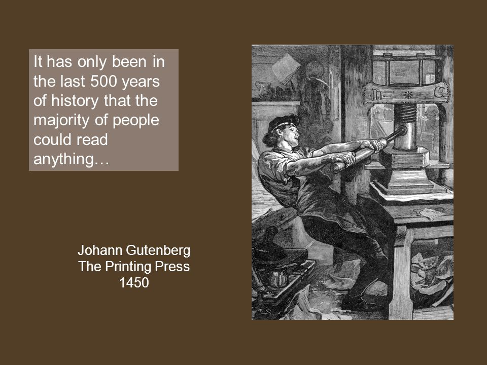 Johann Gutenberg The Printing Press 1450