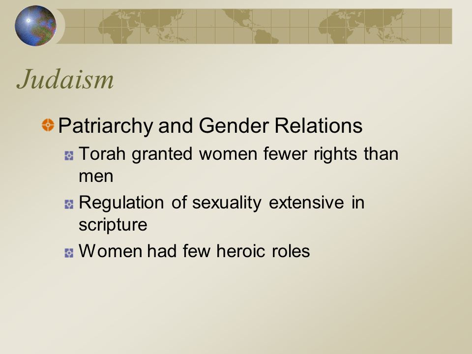 Judaism Patriarchy and Gender Relations