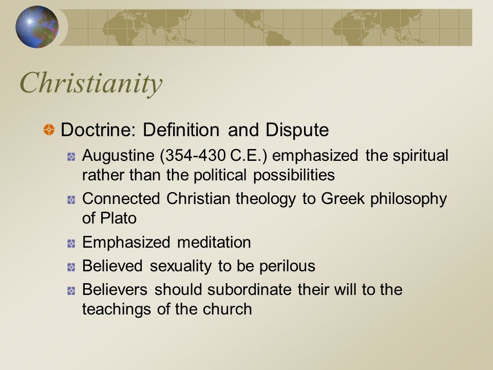 Christianity Doctrine: Definition and Dispute
