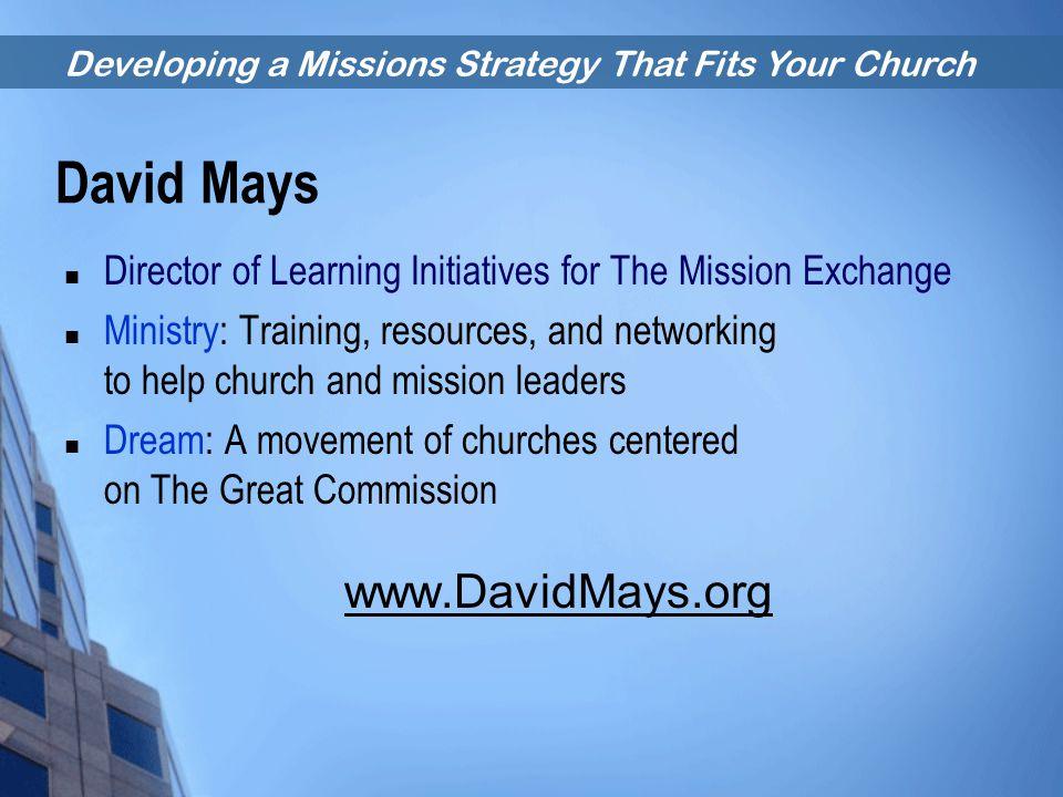 David Mays www.DavidMays.org