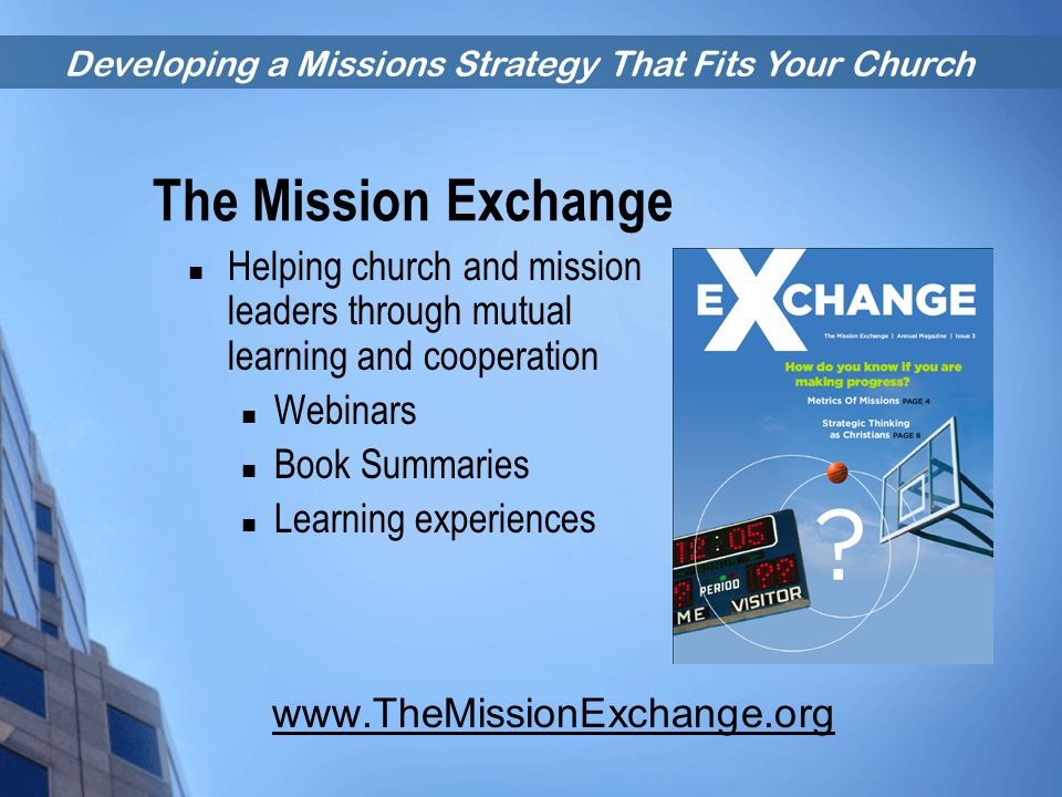 The Mission Exchange Helping church and mission leaders through mutual learning and cooperation. Webinars.