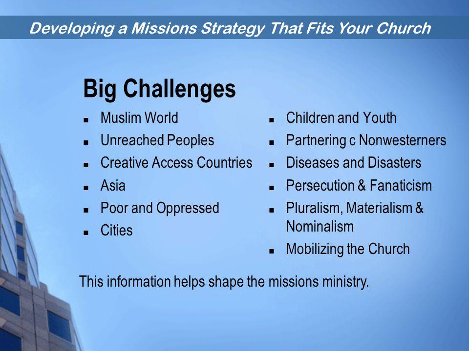 Big Challenges Muslim World Unreached Peoples